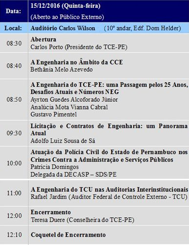 Tribunal de Contas do Estado de Pernambuco - Dezembro