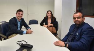 Ouvidor do TCE, Eduardo Porto, e ouvidor-geral da União, Valmir Dias